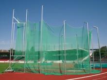All-In Sport: Van 7 naar 10 meter oplopend, te plaatsen in bodemhulzen volgens de laatste IAAF-voorschriften. 10 palen van aluminium profiel 142 x 98 x...