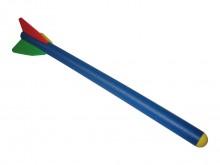 All-In Sport: Van schuimstof. Ideaal voor het aanleren van de speerwerptechniek. 89 cm lang en ca. 84 gram zwaar.