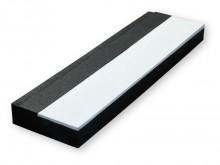 All-In Sport: Afspringbalk voor scholen en training van zwart, hard, volgeperst rubber met wit gelakt afspringvlak (naar wens te verven). Deze afspring...