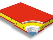 All-In Sport: Schaumstoff-Elemente: Doppelhohlkammer-System mit kombinierten Polyetherschaumstoff-Stegen. Dieses sorgt für eine noch weichere Landung d...