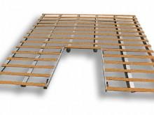 All-In Sport: aus Aluminiumbohlen mit imprägnierten Holzlatten zum Auflegen. Leicht zerlegbar und raumsparend. Besonders empfehlenswert, da nur die Alu...