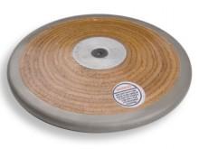All-In Sport: Robuuste discus voor scholen en verenigingen van gelamineerd hout. Verzinkte stalen ring en tarreerschroef.