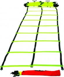 All-In Sport: ritmiekladder (loopladder), ideaal onderdeel voor sprint- en coördinatie-oefeningen. Deze ladder is 4,5 meter lang en heeft 10 sporten. D...
