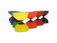 All-In Sport: Grote Diabolo Ø 13 cm, ca. 230 gram met transparante halve schalen voor een vette optiek, kleuren assorti.