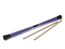 All-In Sport: Stabiele houten kern met textielband gedecoreerd, aan de uiteinden met kunststof doppen. Lengte 60 cm, ca. 280 gram, met 2 stokken. De De...