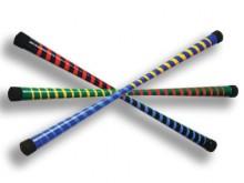 All-In Sport: Essenhout met vette, bonte wikkeling, ca. 200 gram, 67 cm lang. Excl. stokken