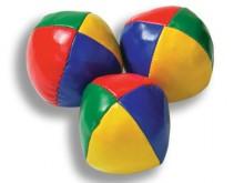 All-In Sport: Bean-Bag speciaal voor amateur-jongleurs, synthetisch leder met granulaatvulling, Ø 6,5 cm, gewicht 95 gram.