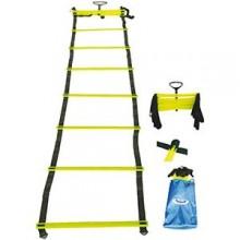 All-In Sport: ritmiekladder (loopladder), ideaal onderdeel voor sprint- en coördinatie-oefeningen. Deze ladder is 4 meter lang en heeft 10 sporten. De ...