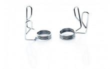 All-In Sport: <p>Olympische Spring Collar Set:</p> <p></p> <p>Olympische spring collars, sluitingen in chromen uitvoering. Deze sluiters zijn g...