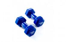 All-In Sport: <p>Vinyl Dumbbells Set 5 kg Blauw</p> <p></p> <p>Vinyl Dumbbells worden veel gebruikt door fysiotherapeuten en worden gebruikt al...