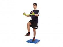 All-In Sport: De schommelplank is optimaal geschikt om verschillende evenwichts- stabilisatie- en houdingsoefeningen door te voeren. De stabiele constr...