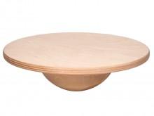 All-In Sport: Balanceerbol van beukenhout voor de scholing van balans en coördinatie. Moeilijke uitvoering (halve bol Ø 20 cm) met hoog kiepmoment, ges...