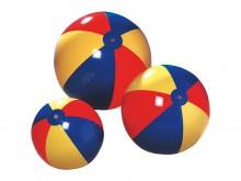 All-In Sport: De strandbal is uitermate geschikt voor oefeningen en recreatie. De bal is van zacht plastic en is opblaasbaar. Bonte kleuren assorti.
