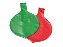 All-In Sport: De reuzenballon heeft een doorsnede van 80 cm en een omvang van 250 cm. Het materiaal is van latex. 1-kleurig en in kleuren assorti.