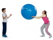 All-In Sport: De reuzenballon heeft een doorsnede van 110 cm en een omvang van 350 cm. Het materiaal is van latex. 1-kleurig en in kleuren assorti.