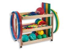 All-In Sport: <p>Gymnastiekartikelen-set bestaande uit:</p> <ul> <li>12 gymnastiekhoepels PVC, 70 cm (4 kleuren)</li> <li>12 turnstokken, 100 cm (4 ...