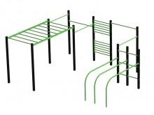 All-In Sport: <p>Te plaatsen <span style=text-decoration: underline;><strong>IN</strong></span> betonnen fundamenten. De outdoor fitnessstudio voor C...