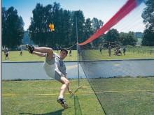 All-In Sport: Kwalitatief hoogwaardige set met optimale prijs-/kwaliteitsverhouding. Het net, in vrolijke trendkleuren wordt met 8 spanringen aan de pa...