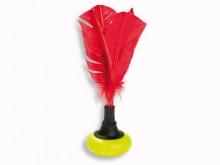 All-In Sport: Ein schneller Ball für schnelles Spiel. Mit kräftig roten Federn. Durch eingelegte Centstücke kann er von 45 g bis 65g beschwert werden. ...