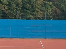 All-In Sport: 12 meter lang, luchtdoorlatend. Rand rondom versterkt en voorzien van ogen op een afstand van ca. 50 cm van elkaar. Elk doek wordt geleve...