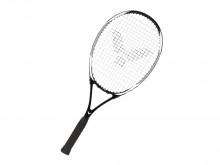 All-In Sport: Tennisracket, licht en goed te handelen met goede speeleigenschappen voor starters en gevorderden. Aluminium , ca. 310 gram, grip: medium...