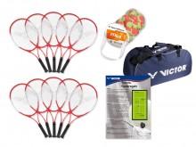 All-In Sport: Speciaal voor schoolsport en dagelijkse training, geschikt voor kinderen v.a. 10 jaar. Bestaande uit 10 robuuste Victor 58 rackets, 40 t...