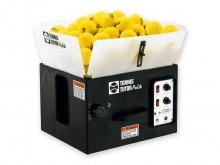All-In Sport: Elektronische tennistrainer met verstelbare snelheid van de balfrequentie, verstelbare vluchtbaan en strooihoek. Stroomaansluiting accu (...