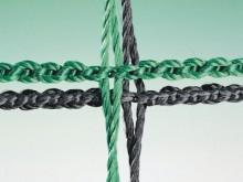 All-In Sport: van ca. 2,5 mm dik gevlochten polyester, onverschuifbare mazen, bijzonder vormstabiel, optimale doorkijk.