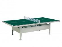All-In Sport: 10 mm Melaminehars speeloppervlak groen, frameprofiel 50 x 20 mm, verzinkt en gelakt, met speeloppervlak vast verbonden, voorgemonteerd. ...