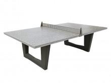 All-In Sport: Stabiele, weerbestendige en onderhoudsvriendelijke tafeltennistafel van grijs vlakgeslepen betonsteen. Uit één stuk vervaardigd, hoge sta...