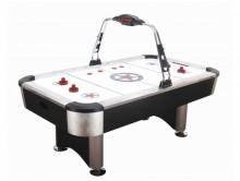 All-In Sport: KING SIZE-Airhockey met professionele afmetingen en functies. Optisch aansprekende, elegante tafel in zwart en aluminium kleurcombinatie....