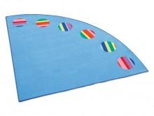 All-In Sport: Speeltapijt Eckolino - Het klassieke speeltapijt is een aanwinst voor elke speelhoek<br /><br />Daadwerkelijk is het kwartcirkel-vormige ...
