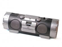 All-In Sport: Soundbooster met CD-speler en snelheidsregeling (Pitch). Ook voor Mp3-CD's geschikt. Een USB-host, een iPod dockingstation, een MP3-tekst...