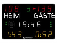 All-In Sport: <p>Bij dit model uit de COMPACT-serie MS 7000 omvat de weergave 17 cijfers, zodat straftijdmeting bij handbal weergegeven kan worden en d...