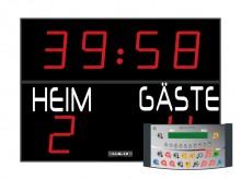 All-In Sport: Outdoor-scorebord van STRAMATEL met de bekende hoge betrouwbaarheid en optimale weergavekwaliteit - in weerbestendige uitvoering. Cijfers...