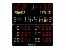 All-In Sport: Perfekt für Handball! Multisport-Anzeigetafel mit spezieller Anzeige für 3 Handball Strafzeiten und Spielernummern pro Team. 3 Jahre Gara...