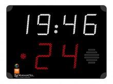 All-In Sport: Functies:- aanvalstijd 24/14 sec.- Speeltijd (synchroon met het scorebord)- Automatisch signaal na afloop van de tijd- Timerstop- voldoet...