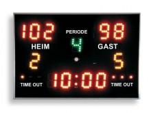 All-In Sport: Scorebord voor vele takken van sport, speelstand (0-199), perioden of sets. Minutenweergave met countdown- en countup-functie (1/10 sec. ...