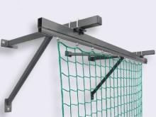 All-In Sport: bestehend aus: 2 Eckkonsolen, 3 Mittelkonsolen und Laufschienenprofile mit Rollen für 15 m Netzlänge.