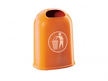All-In Sport: Abfallbehälter/Papierkorb orange aus Kunststoff  ? 42 l, Leergewicht 9,2 kg ? UV-stabil ? Online Bestellen ? 3 Jahre Garantie