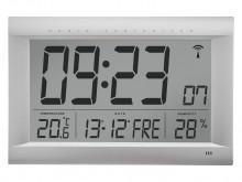 All-In Sport: JUMBO-Funkwanduhr LCD Anzeige Uhrzeit, Monat, Datum, Wochentag und Innentemperatur Ziffernhöhe Std./Min.: 120 mm Sek. 45 mm. Datum/Temper...