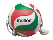 All-In Sport: Met deze speciale Molten® trainingsvolleybal kunt u uw aanvals- en blokvaardigheden verbeteren. Vanwege de 2 touwen kan een aanval of een...