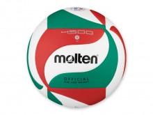 All-In Sport: Wedstrijdbal van composite leder in  nieuw design, aangenaam zacht, zeer goede speeleigenschappen. Officiële maat en gewicht, wit/groen/r...