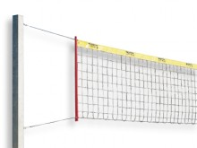 All-In Sport: Het snijvaste volleybalnet in aansprekend design, van verzinkte staaldraden (DRALO), Ø 2 mm, maaswijdte 10 cm. Netmaat volgens internatio...