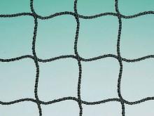 All-In Sport: ca. 1,2 mm, met nylon-spankoord, 6,1 m breed, 76 cm hoog, rondom afgewerkt, maaswijdte 20 mm.