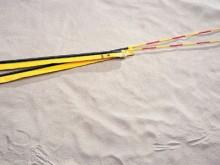 All-In Sport: 1-delig, met DVV-keurmerk, 180 cm lang, compleet met gele antennetassen van gecoat polyester materiaal en markeringsbanden. Levering per ...