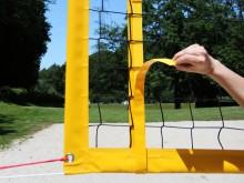All-In Sport: Wedstrijd beachvolleybalnet incl. netantennes met klittenbandsluitingen (2-delig). Beachvolleybalnet aan de zijkanten voorzien van glasve...