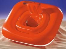 All-In Sport: De opblaasbare zitring heeft een rugleuning en is geschikt voor kleine kinderen tot ca. 18 maanden oud. Max. gewicht 11 kg, afm. 70 x 70 cm.