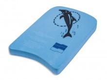 All-In Sport: Plank bestaande uit licht schuimstof, porievrij oppervlak, elastisch, onbreekbaar, blauw, afm. 45 x 25 x 4 cm.