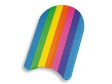 All-In Sport: De fun-plank en zwemleshulp van PE-schuim, hygiënisch, licht. In attractief rainbow-design. Afm. (LxBxH): 48 x 30 x 3 cm.